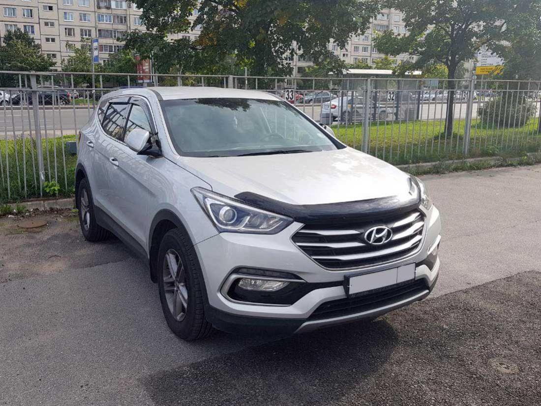 Hyundai Santa FE 2017г Автомат 2.2л. аренда и прокат авто в Санкт-Петербурге (Спб) без водителя недорого цена на сутки