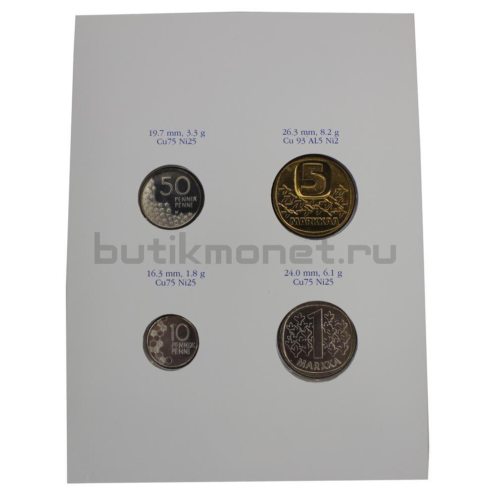 Набор монет 1991 Финляндия (4 штуки)