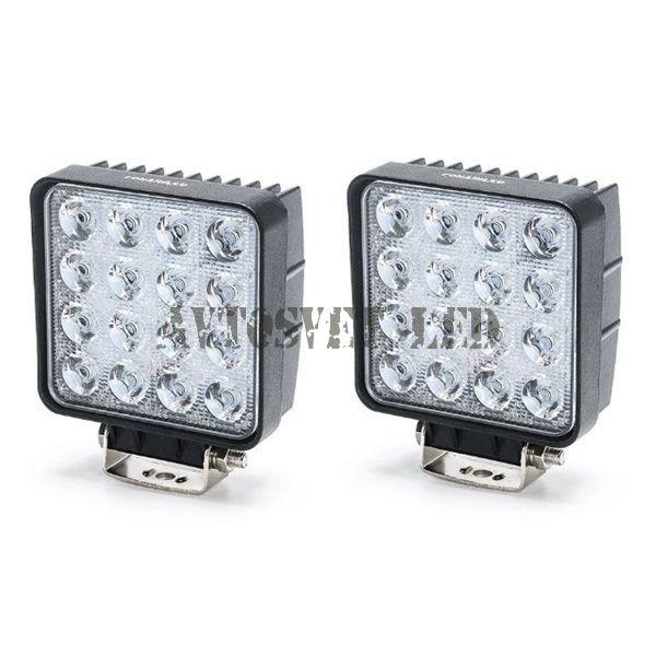 Светодиодные фары комплект K-AS16A-48W SLIM рабочий свет