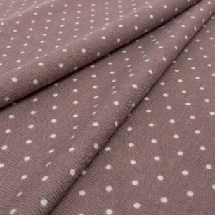 Лоскут трикотажной ткани - Баритон горох какао 50х37 см