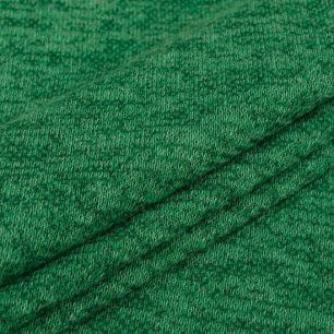 Лоскут трикотажной ткани - Сандра меланж зеленый 50х37 см