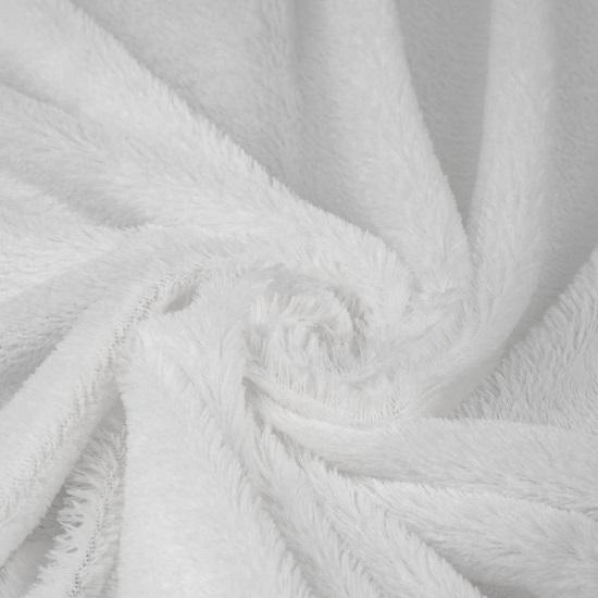 Мех искусственный - Шиншилла белый  50х37