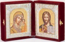 Складень Казанская Богоматерь и Господь Вседержитель иконы (12x20см)