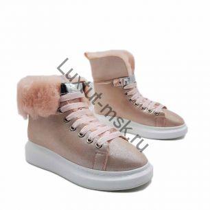 Ботинки Alexander McQueen с мехом