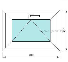 Окно ПВХ 700*500 мм  фрамуга готовые окна