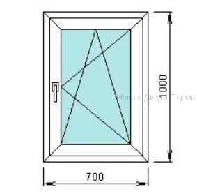 Окно ПВХ 700*1000 мм   готовые окна