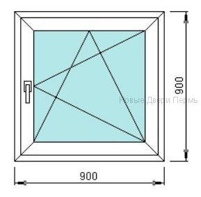 Окно ПВХ 900*900 мм   готовые окна