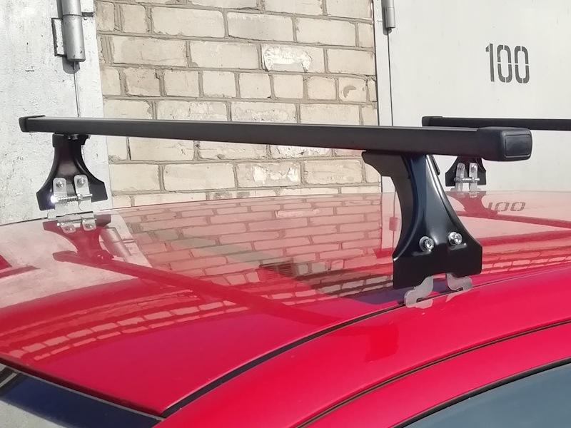 Багажник на крышу Opel Meriva B 2010-..., Delta, стальные прямоугольные дуги