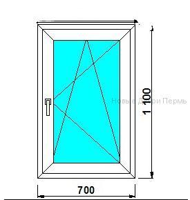 Окно ПВХ 700*1100 мм   готовые окна