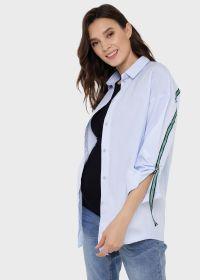 """Рубашка """"Маргарет"""" для беременных и кормящих; голубой"""