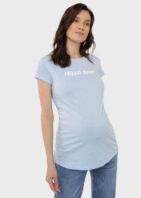 """Футболка """"Руби"""" для беременных; голубой"""