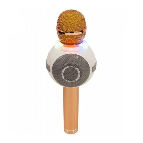 Беспроводной Караоке-Микрофон WS-878, Золотистый