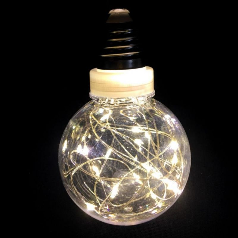 Ретро-лампа со светодиодной нитью, 8 см 1 шт, свечение белое теплое