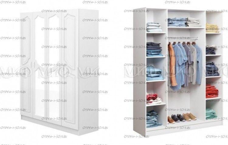Шкаф четырехдверный Натали МДФ (160х54х160)