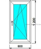 Окно ПВХ 600*1200 мм  Створка готовые окна