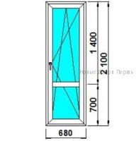 Балконная дверь 680*2100 мм готовая