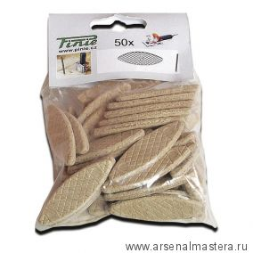 Шпонка 50 шт  / Ламель соединительная деревянная PINIE 56 х 23 х 4 мм Pinie 160-2050