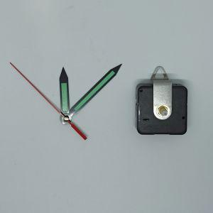 Часовой механизм, шток 16 мм, со стрелками №11 светятся в темноте (1уп = 5шт)