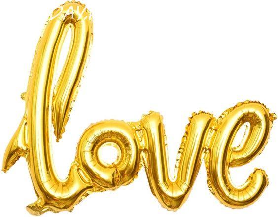 "Надпись ""Love"" золото 104см"