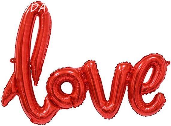 """Надпись """"Love"""" красная 104см"""