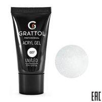 Grattol, Acryl Gel 07 - Акрил-гель с шиммером (30 мл.)