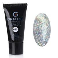 Grattol, Acryl Gel 10 - Акрил-гель с шиммером (30 мл.)