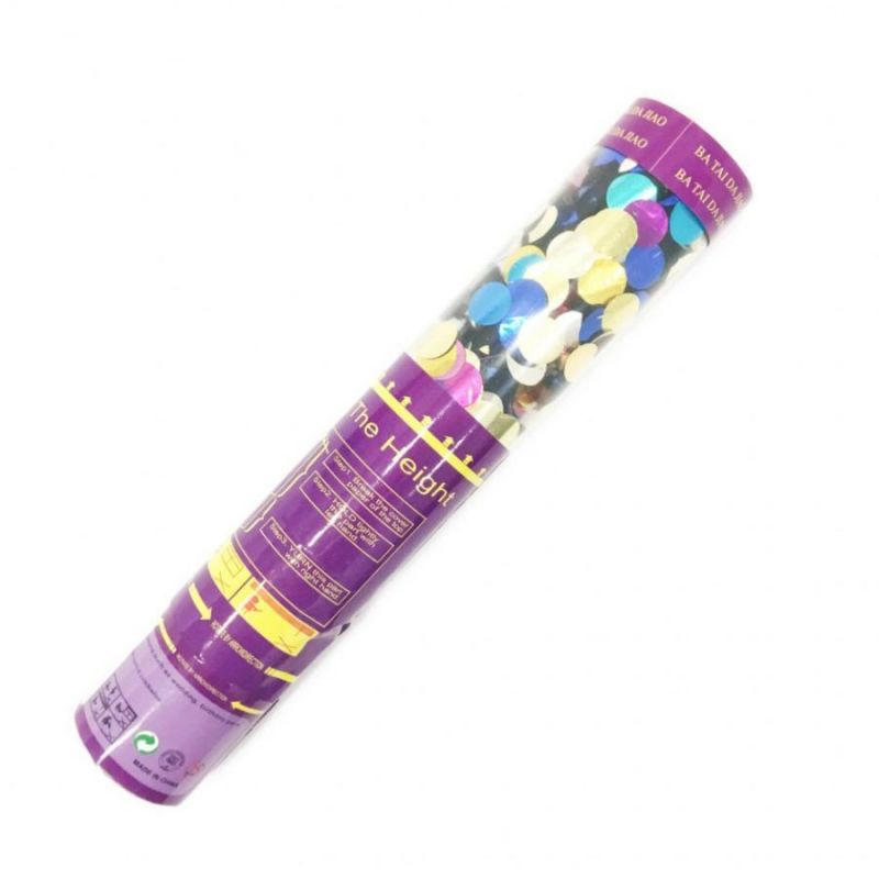 Хлопушка Разноцветное блестящее конфетти, 30 см