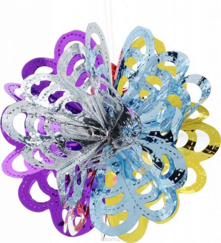 Подвесное декоративное новогоднее украшение  Шар 32 см, 6 шт