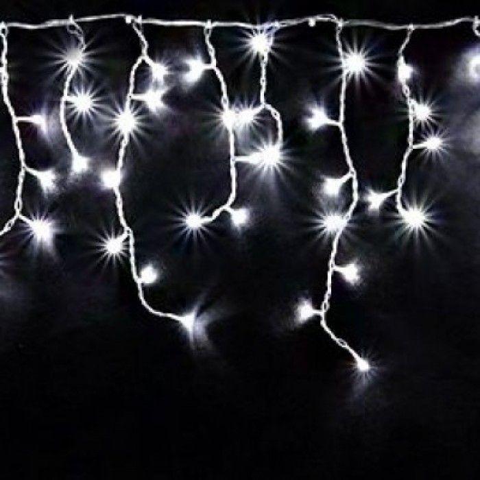 Гирлянда БАХРОМА,  100  LED, 3*0.7 м, цвет свечения белый