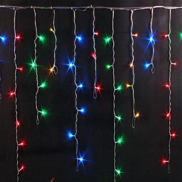 Гирлянда БАХРОМА,  100  LED, 3*0.7 м, цвет свечения разноцветный