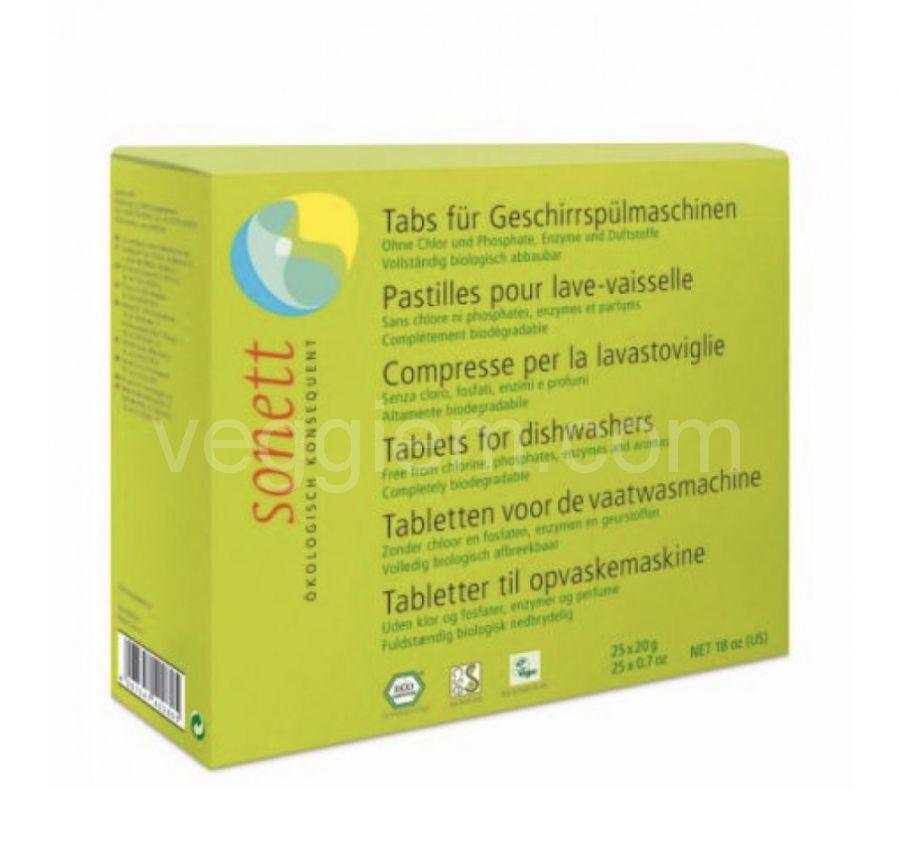 Органические таблетки для посудомоечной машины Sonett,25 шт