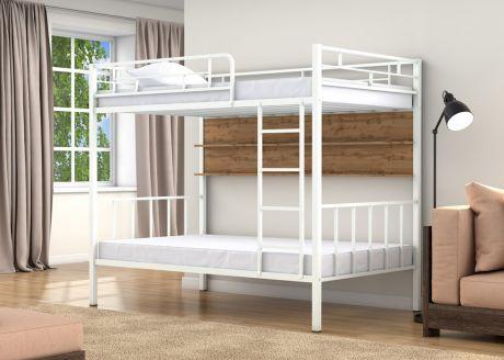 Двухъярусная кровать Валенсия 120 Белый полка