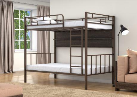 Двухъярусная кровать Валенсия 120 Коричневый полка