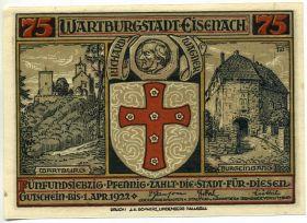 Германия. Нотгельд г. Айзенах 75 пфеннигов 1922