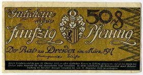 Германия. Нотгельд г. Дрезден 50 пфеннигов 1917