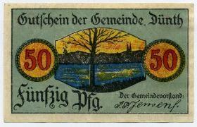 Германия. Нотгельд ком. Дюнт 50 пфеннигов 1919