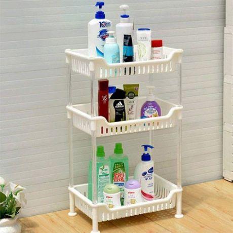 Пластиковая 3-х ярусная полка для кухни и ванной комнаты Plastic rack 3 Layer