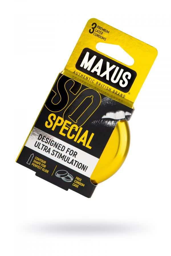 Презервативы MAXUS Точечно-ребристые в железном кейсе № 3, 18 см