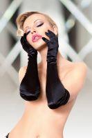 Перчатки длинные SoftLine Collection, черный, S/L