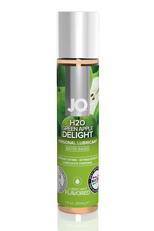 "Вкусовой лубрикант ""Зеленое яблоко "" / JO Flavored  Green Apple H2O 1oz - 30 мл."