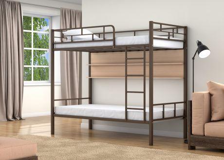 Двухъярусная кровать Валенсия Коричневый полка