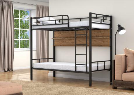 Двухъярусная кровать Валенсия Черный полка