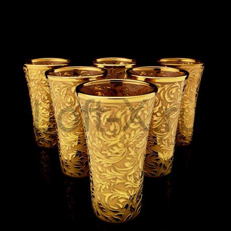 Подарочный набор стопок для водки в золоте 24 карата.