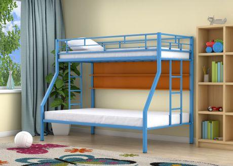 Двухъярусная кровать Милан Голубой полка