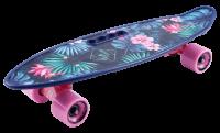 Скейтборд пластиковый Fishboard 23 print цветы
