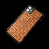 Кожаный чехол-накладка «Плетенка» для iPhone