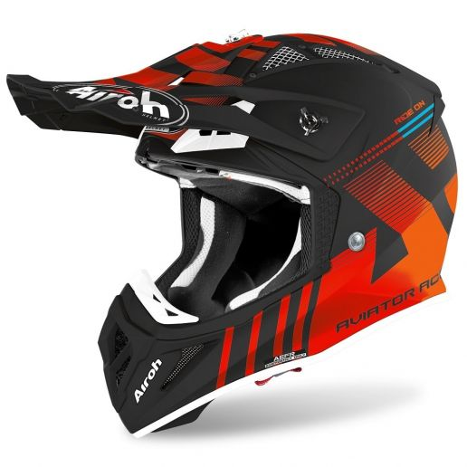 Airoh Aviator Ace Nemesi Orange Matt шлем для мотокросса и эндуро
