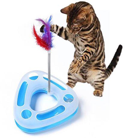Треугольный трек-игрушка для кошек Happy Circle