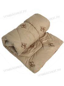 Одеяло детское овечья шерсть 110х140 (тик  простеганный, напол.300г/м)