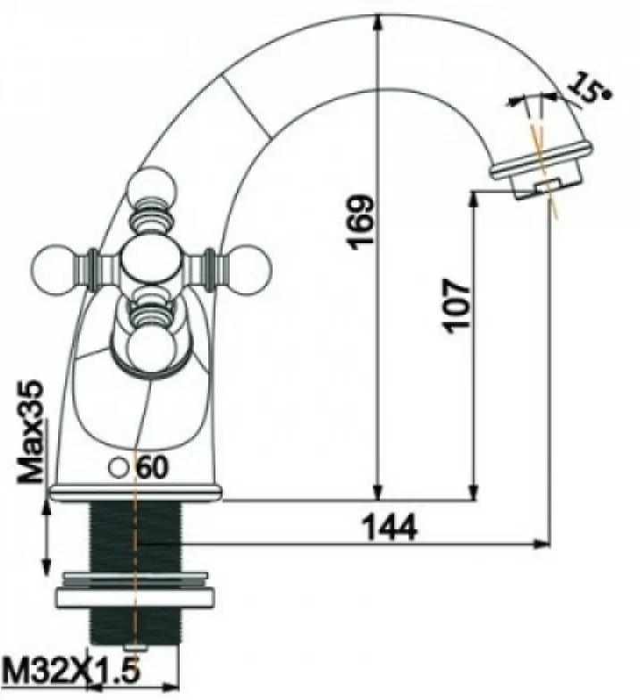 Бронзовый смеситель для раковины Gappo G1089-4